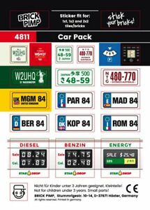 Car/Car Pack  Sticker Fit For lego Tiles, Bricks, Plates/4811
