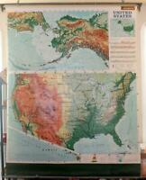 1965 Rand McNally United States Pull Down Map