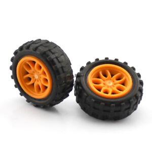 4pcs 2*18mm Mini Plastic Wheels DIY Electronic Kit Car Truck Model Tires Rims