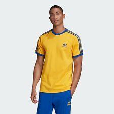 Nuevas Adidas Originales tres 3 rayas amarillo con camiseta azul Malmo-Talla XL