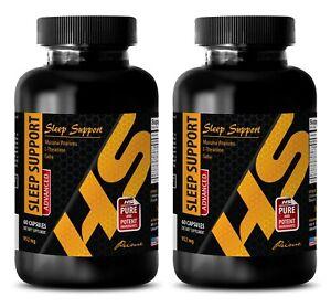 5-htp and tryptophan - ADVANCED SLEEP SUPPORT - sleep supplements - 2 Bottles
