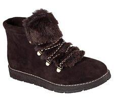 Skechers Bobs Women's Casual Memory Foam Alpine Fur Eva Boots 31307 Chocolate