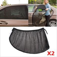2pcs Car Window Sun Shade Foldable Windshield Full Shield Visor Block Cover