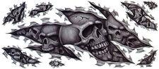 Pegatinas set calavera aerógrafo XXL Skull decal Tank bike trike Truck enorme **