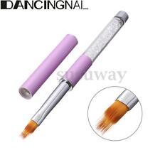 Nail Art Pen Acrylic Rhinestone Handle Nylon Hair Nail UV Gel Ombre Brush Tool