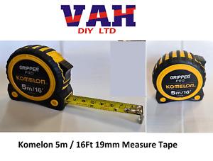 Komelon Gripper Pro 5m Or 8m Measure Tape Stanley Tylon Equivalent