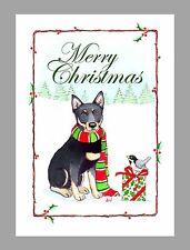 Australian Kelpie Dog Christmas Cards, Box of 16 Cards & 16 Envelopes