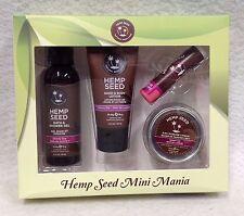 4pc Hemp Seed Mini Mania Bath Gel Body Lotion Candle Skinny Dip Vegan Hot Sexy