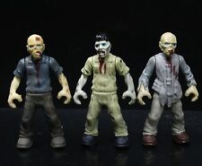 lot 3 Mega Bloks the Walking Dead Zombies Outbreak Building mini action figure