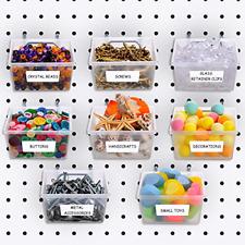 8 Packs Pegboard Bins Kit Pegboard Parts Storage Pegboard Accessories Workbench