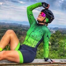 New listing Pro Team Cycling  Skinsuit  Triathlon Suit Women's long sleeve  jumpsuit