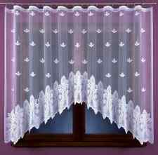 Lovely New White Ready Made Jacquard Net Curtain 320x160 Home Window decoration
