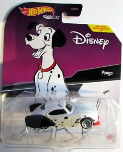 ✅ Hot Wheels Disney 101 Dalmatians PONGO Dog Character Car NEW