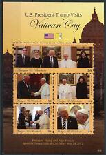 Antigua & Barbuda 2018 MNH Donald Trump Vatican City Pope Francis 5v M/S Stamps