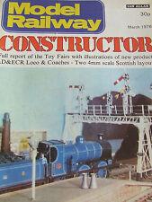 MODEL RAILWAY CONSTRUCTOR MAGAZINE MAR 1976 TOY FAIRS LD ECR LOCO COACHES SCOTTI