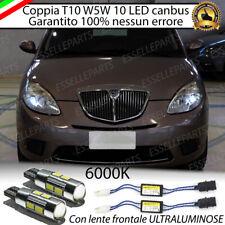 COPPIA LUCI DI POSIZIONE 10 LED LANCIA YPSILON 843 T10 W5W CANBUS ULTRALUMINOSI