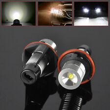 2 x 6000K White LED ANGEL EYES HALO Ring Marker Xenon Light For BMW E39 E53 E60