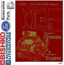 1974 ford lincoln mercury shop service repair manual cd oem mechanic guide