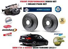Pour BMW Gran Turismo F34 320D 2013> avant Frein Performance Ensemble Disques +