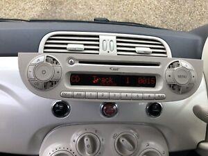 Fiat 500 Cd Radio In Cream Lcd Slight Mark With Code Full Tested🇬🇧