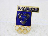 Vintage Gold Tone Blue Enamel Toronto 1996 Olympic Pin