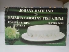 Johann Haviland Traditions Blue Garland Butter Dish New in a box