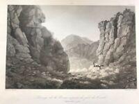 Valsugana - Covolo di Butistone.Veneto 1835 ca.Canale di Brenta.