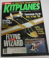 Kitplanes Magazine Flying The Wizard & Merlin Explorer August 1996 080614R