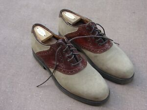 Johnston & Murphy Men's 10 1/2 M Brownh Oxford Knobby Sole Golf Shoes