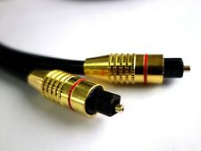 NEW 2M Premium Optical Digital Toslink Fibre Audio Cable 5.1 Lead Optic Spdif