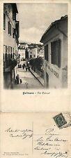 Gallicano, lucca, via cavour, bella animata ottimo stato 1912