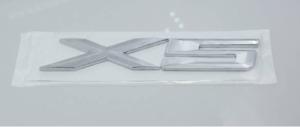 X5 Rear Boot Badge Emblem Silver / Number Letter Decal Label Sticker BMW