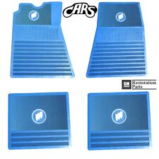 1961-1975 Buick Floor Mats | Blue with Tri-Shield | Approved & Licensed by GM