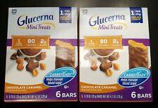 2 Glucerna Mini Treats Choc Caramel Bars Help Maintain Blood Sugar New Free Ship