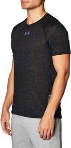 UNDER ARMOUR mens UA breeze  T-Shirt  tee top LARGE black training  goretex