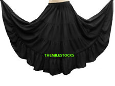 Emerald Green - TMS 4 Tiered Skirts Belly Dance Penal Gypsy Flamenco - 25 Colors