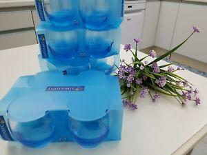 Luminarc 16 bicchieri tondi x 32 cl/ 10¾ oz BLU/AZZURRO (BRAND NEW)