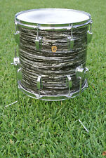 """1966 Ludwig CLASSIC 14"""" BLACK OYSTER PEARL FLOOR TOM for YOUR RINGO DRUM SET!"""