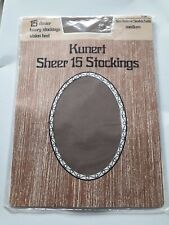 vintage KUNERT Sheer 15 den Luxury QUARTZ Nylon Stockings Vision Heel Sz Medium