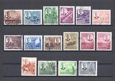 NORTH BORNEO 1950-2 SG 356/70 USED Cat £150