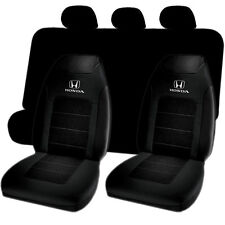 Honda Logo Sport Highback & Black Bench Seat Cover 7pc Set Universal-fit