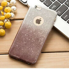 Bling Sparkle Glitter Crystal Rubber TPU Phone Case Cover For Apple iPhone 6 6S