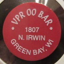 Vintage VPR 00 BAR Green Bay, WI Red Plastic Trade Token - Wisconsin