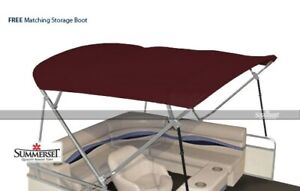 Summerset 4 Bow Bimini Replacement Top, Canvas Only - 96'L x 97'-103'W | Burgund