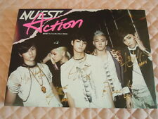 NU'EST NUEST Action 1st MINI Album Signed Autographed PROMO CD KPOP Ren Aron
