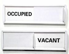 Privacy Sign White with W&B (Office Sign, Vacant Sign, Occupied)