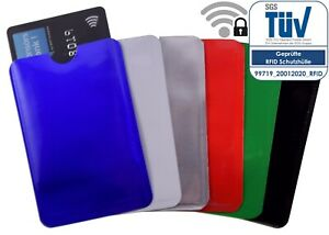 6x RFID Schutzhüllen NEU Soft Farben frei wählen Kartenhülle Kreditkarte Ausweis