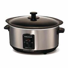 Morphy Richards 48701 Brushed Sear and Stew Slow Cooker 3.5 Litre 163w