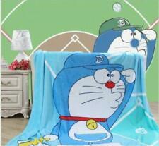 New Lovely Doraemon blue cat coral fleece small blanket rug blankets 150x200cm