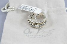 or Paz Sterling Silver 14k Gold 1.60 Ct White Topaz Spinner - Size 9
